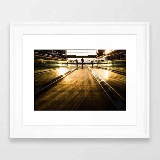 en route Framed Art Print