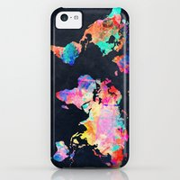iPhone 5c Cases featuring World map by Bekim ART