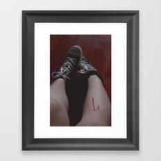 blood is beautiful Framed Art Print