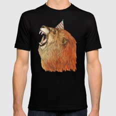 Birthday Lion Black SMALL Mens Fitted Tee