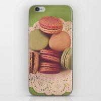 Macarons on Green iPhone & iPod Skin