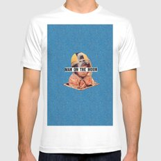 Man on the Moon Mens Fitted Tee White SMALL