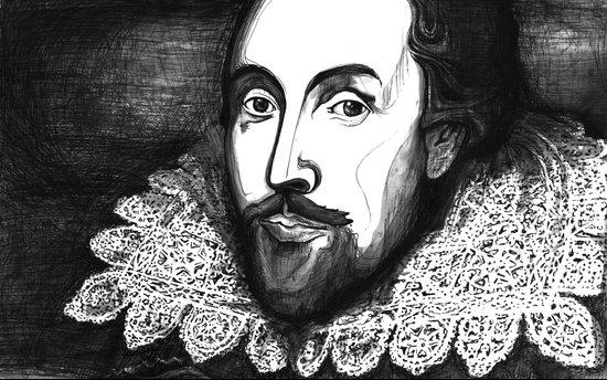 William Shakespeare Portrait - The Tudor Illustration Series Art Print