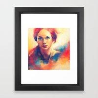 Stood Beneath An Orange … Framed Art Print