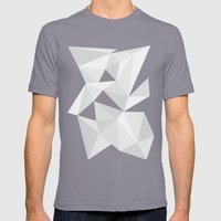 White Deconstruction Mens Fitted Tee Slate SMALL