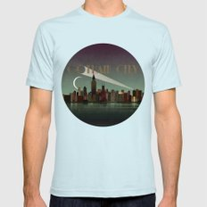 Gotham City Mens Fitted Tee Light Blue SMALL