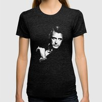 Cary Grant Womens Fitted Tee Tri-Black SMALL
