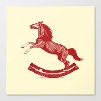Rocking Horse Canvas Print