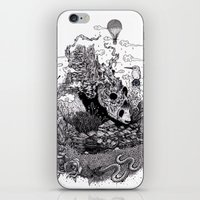 Land of the Sleeping Giant (ink drawing) iPhone & iPod Skin