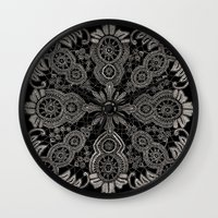 Victorian Monochrome Wall Clock