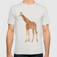 Giraffe, African Animals… Mens Fitted Tee Silver SMALL