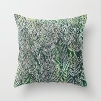 Snow Pines(Light Green) Throw Pillow