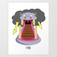 The Hippo's Not So Tempt… Art Print