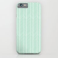 Herringbone Mint Inverse iPhone 6 Slim Case