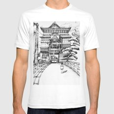 Spirited Away Bathhouse Mens Fitted Tee White SMALL