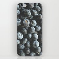 BLUEBERRIES iPhone & iPod Skin