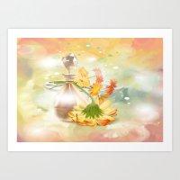 Duft der Blume - farbig Art Print