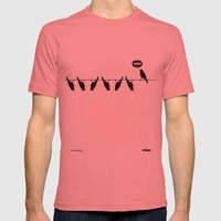 WTF? Bird Mens Fitted Tee Pomegranate SMALL
