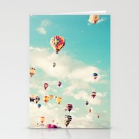 Balloons Taking Off Stationery Cards