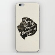 iPhone & iPod Skin featuring Lions Don't Lose Sleep O… by Laura Graves