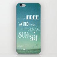 I wanna be free iPhone & iPod Skin