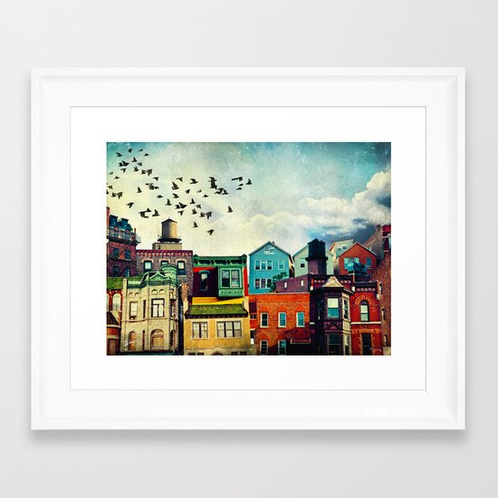 A Grand Avenue Framed Art Print