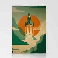 The Voyage (Green) Stationery Cards