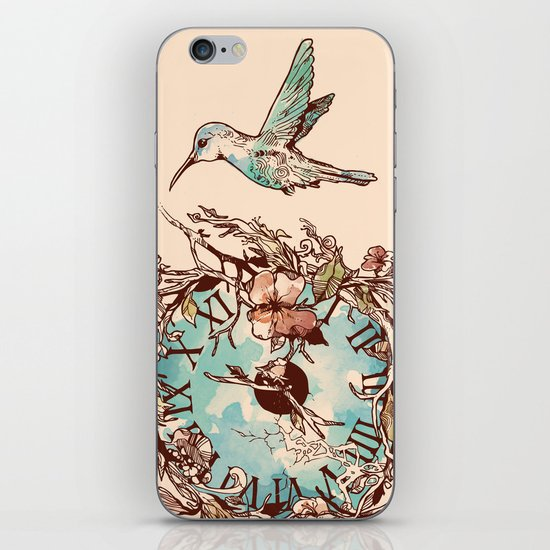 Watching the Passage of Time iPhone & iPod Skin