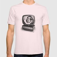 Rumore Mens Fitted Tee Light Pink SMALL