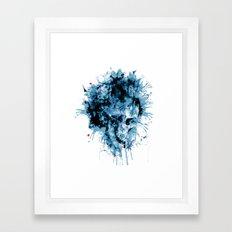 Skull Splash Framed Art Print