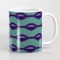 Blue Aztec Design Mug