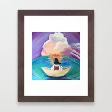 Ocean in the memory  Framed Art Print
