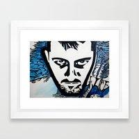 Autoritratto Inverso (Self-Inverse) Framed Art Print