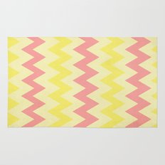 Summer Pink & Yellow Chevron Rug