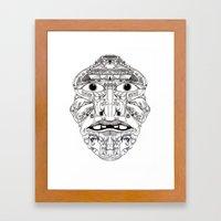 Psychedelic Mask 01  Framed Art Print