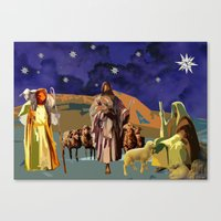 The Christmas Story Shepherds Canvas Print