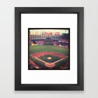 At The Ballpark   Framed Art Print