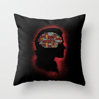 Sam's Phrenology Throw Pillow