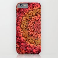 iPhone Cases featuring Ruby & Garnet Doodle by micklyn