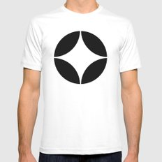 Geometric pattern (circles) SMALL White Mens Fitted Tee
