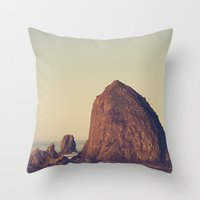 Oregon Ocean Throw Pillow