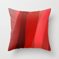 Red Twist Throw Pillow
