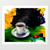 tea cup Art Print