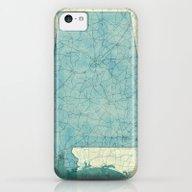 Alabama Map Blue Vintage iPhone 5c Slim Case