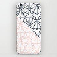 Black And Pink Crop Symm… iPhone & iPod Skin