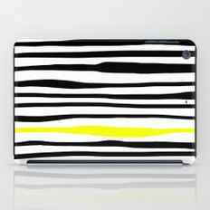 Neon zebra stripes iPad Case