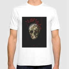 skull#01 Mens Fitted Tee White SMALL