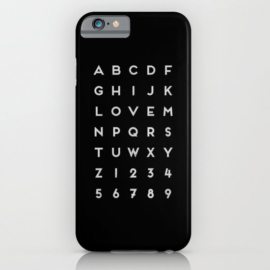 Letter Love - Black iPhone & iPod Case