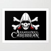 Assassins of the Caribbean Art Print