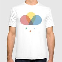 Never Stop Chasing Rainbows Mens Fitted Tee White SMALL